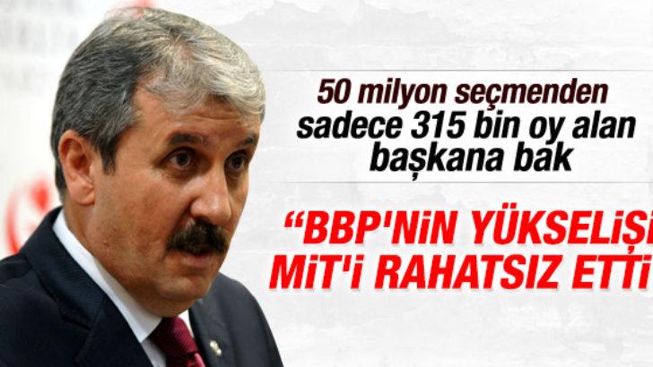 Destici: BBP'nin yükselişi MİT'i rahatsız etti