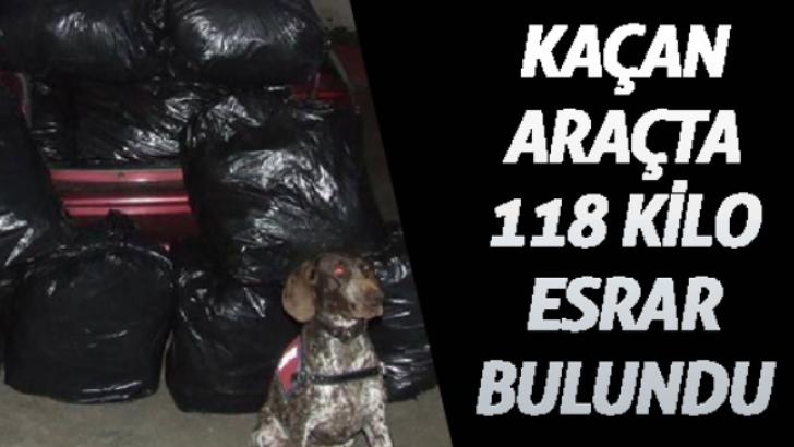 kacan-aracta-118-kilo-esrar-bulundu