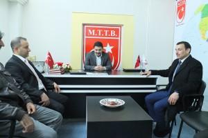 AK Parti Malatya Milletvekili A.adayı Vahap Bata Millî Türk Talebe Birliği (MTTB) Malatya Şubesini ziyaret etti.
