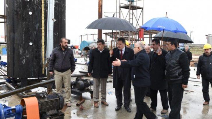 Başkan Çakır, emisyon tesislerini inceledi