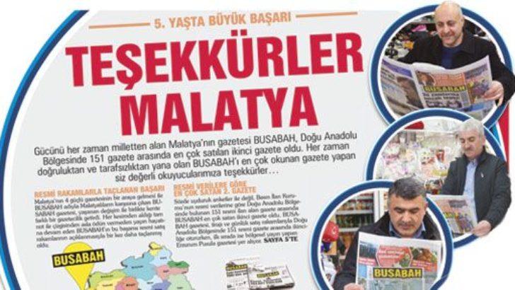 BUSABAH Gazetesi'nin başarısı