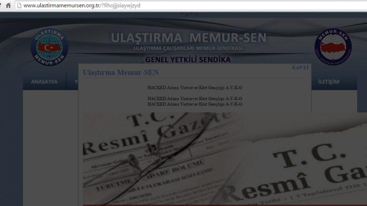 Ulaştırma Memur-Sen sitesi hacklendi!