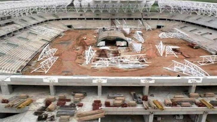 Malatya Arena Stadının kaba inşaatı tamamlandı