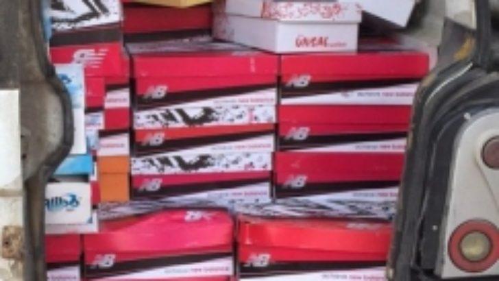 Ayakkabı kutularından kaçak sigara çıktı