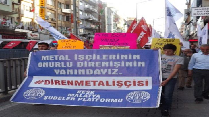 Malatya'da metal işçileri eylem yaptı