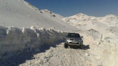 Nisan ayında büyükşehirin karla mücadelesi