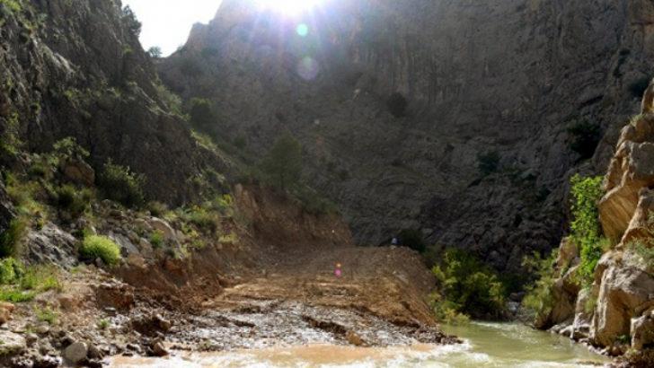 Proje için 2 km'lik yol açıldı