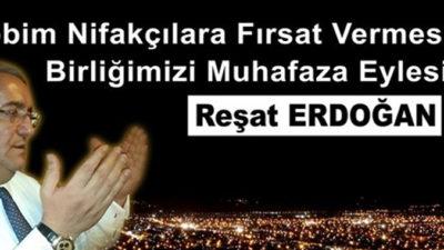 Reşat Erdoğan'dan'Berat Kandili'mesajı