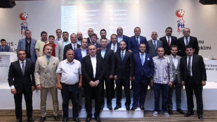 2015-2016 Sezonu PTT 1. Lig Fikstürü Çekildi