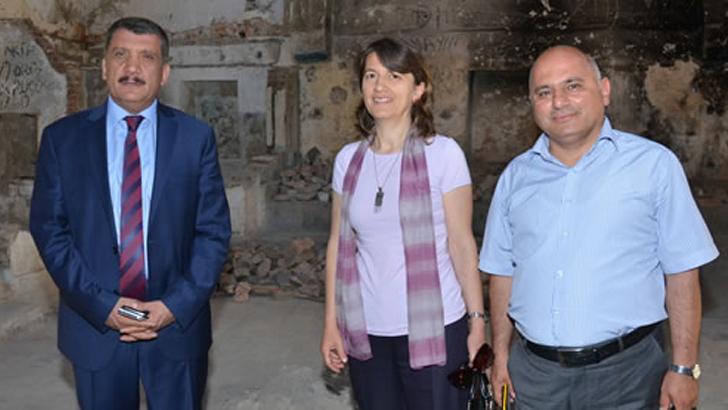 Başkan Gürkan, Tahtalı Hamamda İncelemede Bulundu