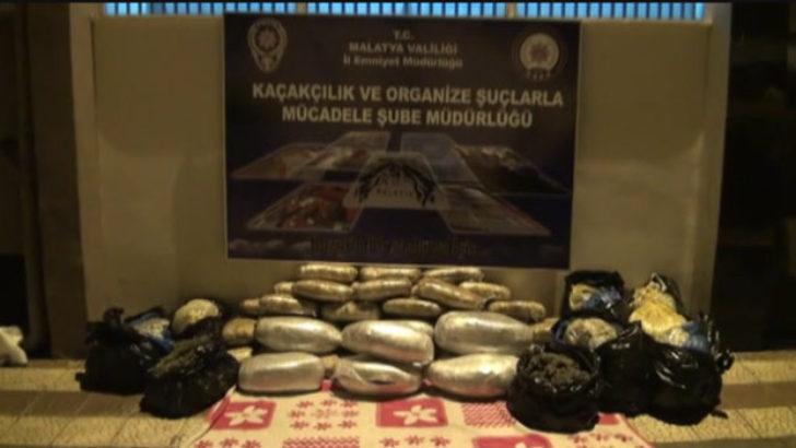 Malatya İl Emniyet Müdürlüğü 187 Kilo 463 Gram Esrar Ele Geçirildi