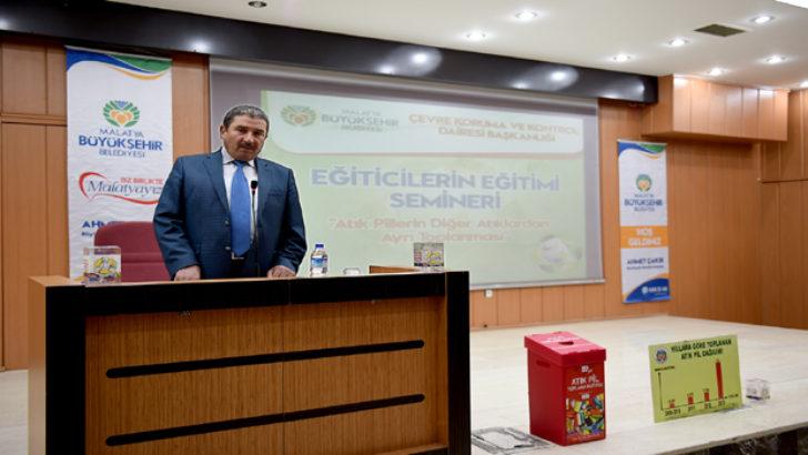 Malatya Büyükşehir Belediyesi  Atık Pil Eğitimi Düzenledi