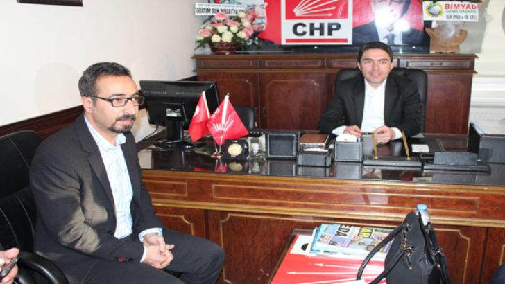 Eğitim-Sen Şube Başkanı Kaya'dan CHP il Başkanı Kiraz'a Ziyaret