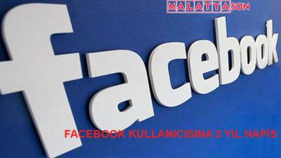 Facebook Kullanıcısına 3 Yıl Hapis