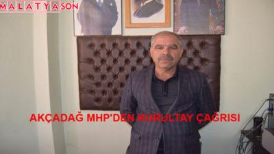 Akçadağ MHP'den Kurultay Çağrısı