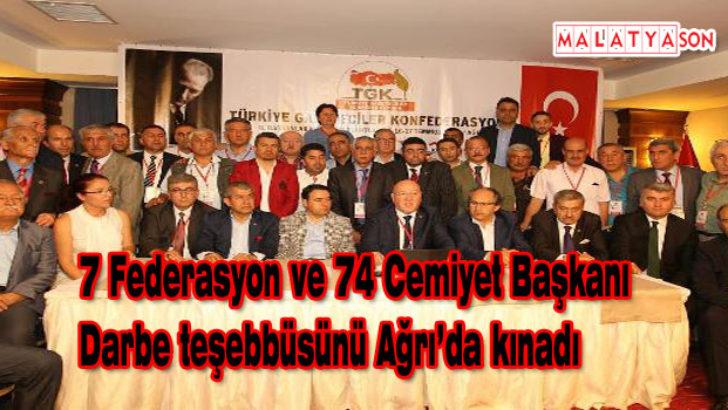 7 Federasyon ve 74 Cemiyet Başkanı Darbe teşebbüsünü kınadı