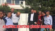 Atatürk Büstüne Çirkin Saldırı