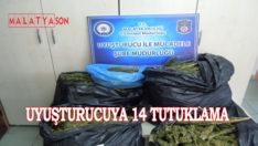 Uyuşturucuya 14 Tutuklama