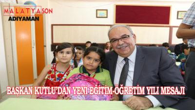 Belediye Başkanı Kutlu'dan Yeni Eğitim-Öğretim Yılı Mesajı
