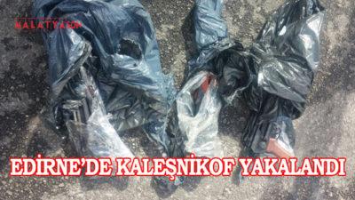Edirne'de Kaleşnikof Yakalandı
