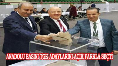 Anadolu Basını TGK Adaylarını Açık Farkla Seçti