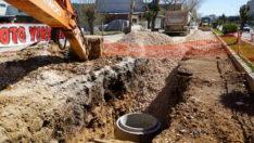 Atatürk Bulvarı'nda Kanalizasyon Hattı Yenilemesi