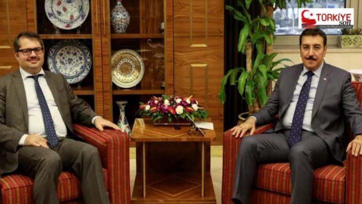 Tüfenkci, Azerbaycan Büyükelçisini makamında kabul etti