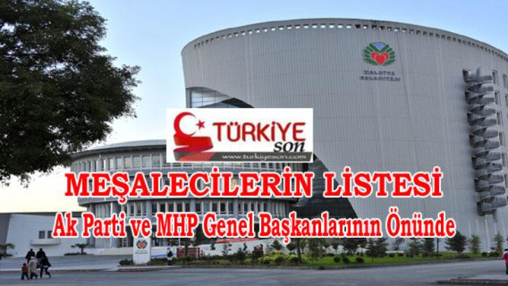 Meşalecilerin Listesi Ak Parti ve MHP Genel Başkanlarının Önünde