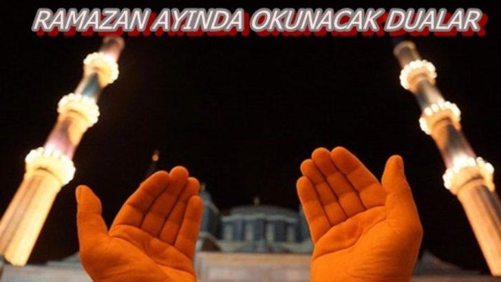 RAMAZAN AYINDA OKUNACAK DUALAR
