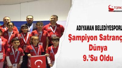 Adıyaman Belediyesporlu Şampiyon Satranççı Dünya 9.'su Oldu
