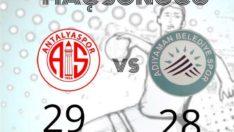 Antalyaspor: 29-28 :Adıyaman Belediyespor