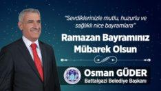 Başkan Güder'den ramazan bayramı mesajı