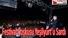 Festival Coşkusu Yeşilyurt'u Sardı