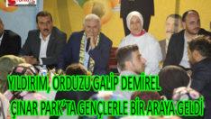 YILDIRIM, ORDUZU GALİP DEMİREL ÇINAR PARK'TA GENÇLERLE BİR ARAYA GELDİ