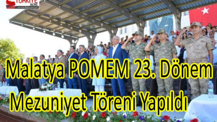 Malatya POMEM 23. Dönem Mezuniyet Töreni Yapıldı