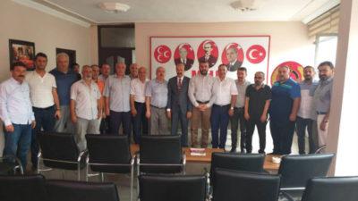 MHP İl Başkanı Avşar, aylık istişare toplantısını Kamu sen'e bağlı 11 sendika başkanları ile gerçekleştirdi.
