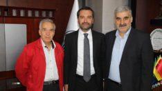 Gazeteci-yazar Yavuz Donat'tan Başkan Şerifoğulları'na ziyaret