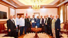 Muhtar Dernek Başkanlarından Vali Baruş'a Ziyaret