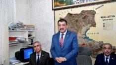 Başkan Gürkan, Türkiye Muhtarlar Derneği Malatya Şube Başkanlığı'nı ziyaret etti