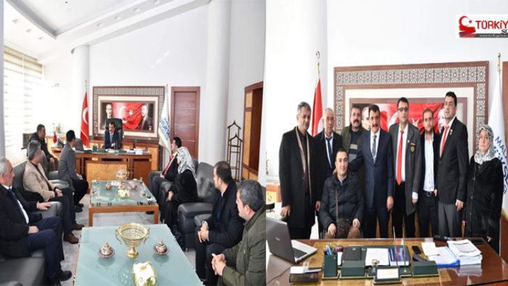 """Türkiye Harp Malulü Gaziler, Şehit Dul ve Yetimleri Derneğini kabul eden Başkan Gürkan, """"Şehit Ve Gazilerimizi Minnet Ve Şükranla Yâd Ediyoruz"""""""