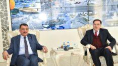 Kamu Başdenetçisi Malkoç'un Başkan Gürkan'ı ziyareti