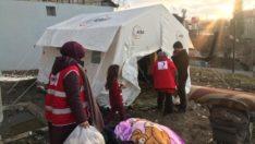 Türk Kızılayı Deprem yaralarını sarmaya devam ediyor