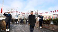 Atatürk'ün Malatya'ya gelişi ile ilgili çelenk sunma programı