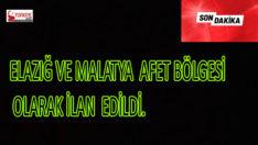 24.01.2020 Tarihinde Merkez üssü Elazığ Sivricede 6.8 Şiddetinde Meydana gelen Deprem Sonrası Elazığ ve Malatya Afet Bölgesi olarak ilan edildi