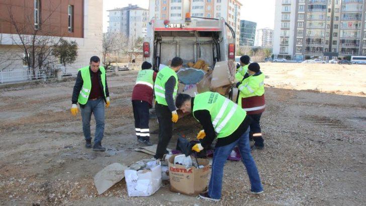 Çadır kentlerde temizlik