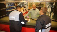 Elazığ belediyesi zabıta ekiplerinden denetim