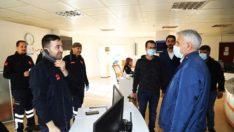 Başkan Güder'den Sağlık Çalışanlarına Moral Ziyareti