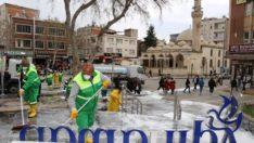 Adıyaman Belediyesi'nden Cadde ve Sokaklarda Koronavirüs Temizliği