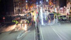 Elazığ belediyesi temizlik ekipleri hijyen çalışmalarını sürdürüyor