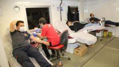 Elazığ belediyesi itfaiye personelinden kan bağışı